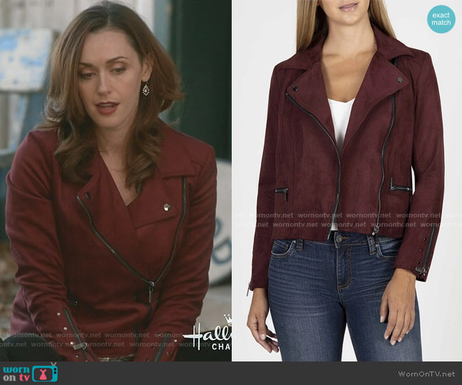 Eveline Jacket in Raisin by Kut from Kloth worn by Abigail Pershing (Sarah Power) on Good Witch