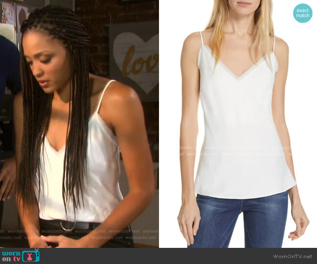 Fray Edge Satin Camisole by Frame worn by Lani Price (Sal Stowers) on Days of our Lives