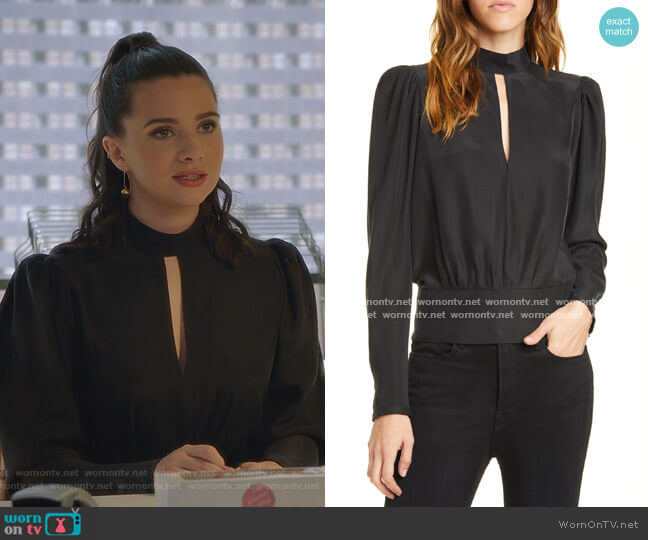 Keyhole Silk Satin Top by Frame worn by Jane Sloan (Katie Stevens) on The Bold Type