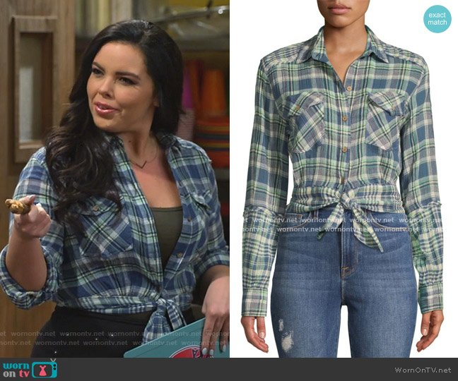 First Bloom Plaid Top by Free People worn by Lou Hockhauser (Miranda May) on Bunkd