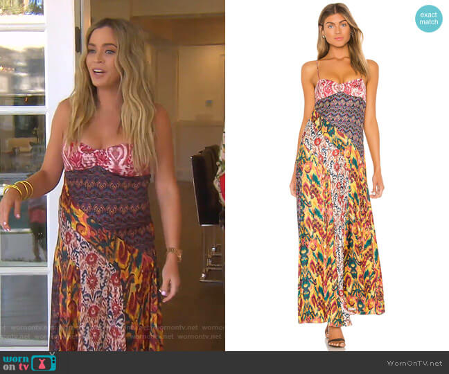 Holiday Hero Dress by Free People worn by Teddi Mellencamp Arroyave  on The Real Housewives of Beverly Hills