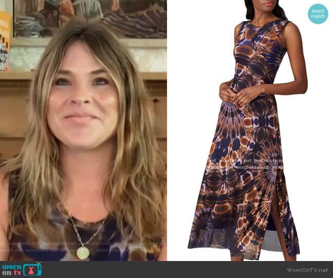 Sleeveless Tie Dye Dress by Fuzzi worn by Jenna Bush Hager  on Today