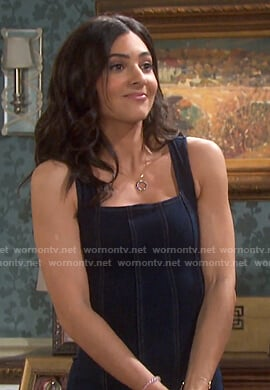 Gabi's denim mini dress on Days of our Lives
