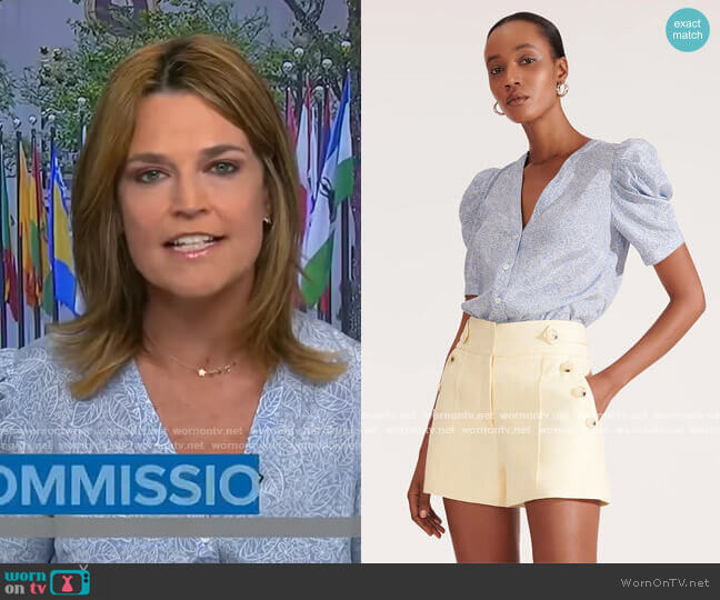 Puff Sleeve Top by Veronica Beard worn by Savannah Guthrie  on Today