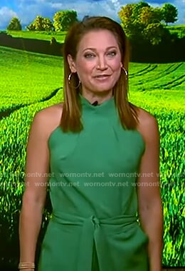 Ginger's green halter romper on Good Morning America