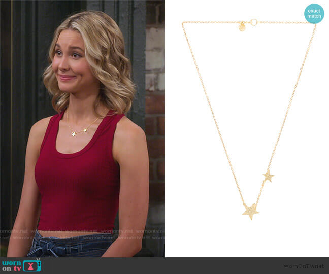 Super Star Necklace by Gorjana worn by Katie Cooper (Isabel May) on Alexa & Katie