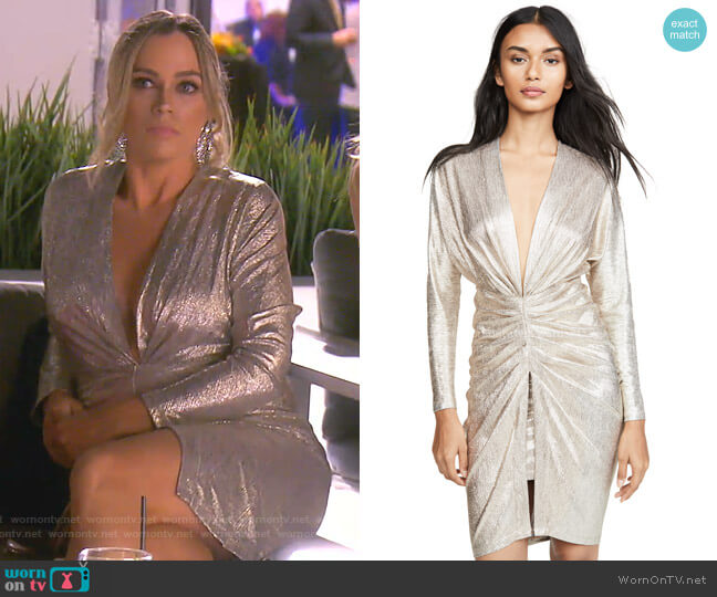 Cilty Dress by Iro worn by Teddi Mellencamp Arroyave  on The Real Housewives of Beverly Hills