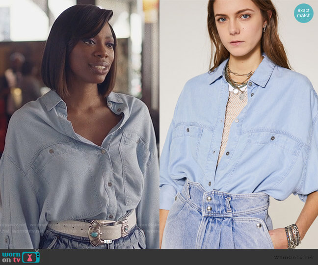 Faelle Shirt by Iro worn by Molly Carter (Yvonne Orji) on Insecure