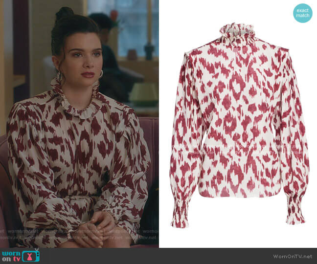 Yoshi Blouse by Isabel Marant Étoile worn by Jane Sloan (Katie Stevens) on The Bold Type