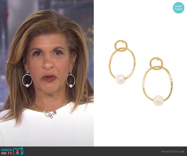 Open Pearl Earrings by Jennifer Miller worn by Hoda Kotb  on Today