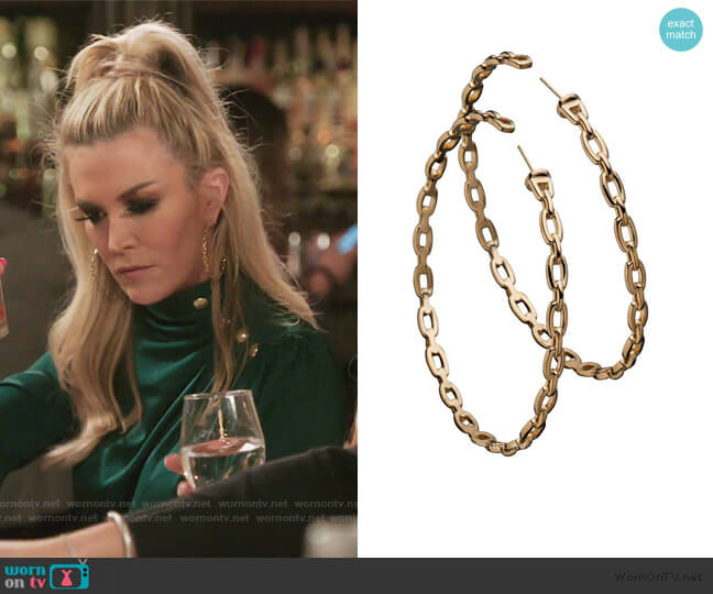 Carmine 2.5 Hoops by Jennifer Zeuner worn by Tinsley Mortimer  on The Real Housewives of New York City