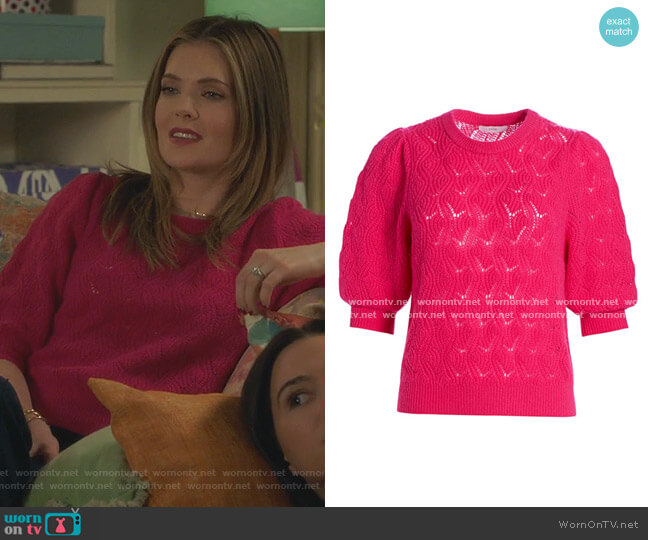 Wool & Cashmere Puff Sleeve Sweater by Joie worn by Sutton (Meghann Fahy) on The Bold Type