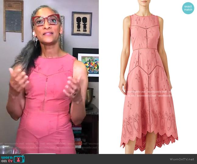Halone Midi Dress by Joie worn by Carla Hall on GMA