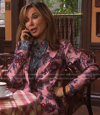 Kate's pink snake print suit on Days of our Lives
