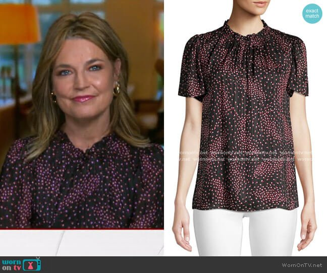 Meadow Tie-Back Top by Kate Spade worn by Savannah Guthrie  on Today