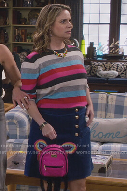 Kimmy's striped sweater on Fuller House