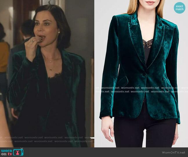 Chamberlain Velvet Blazer by L'Agence worn by Cassandra Nightingale (Catherine Bell) on Good Witch