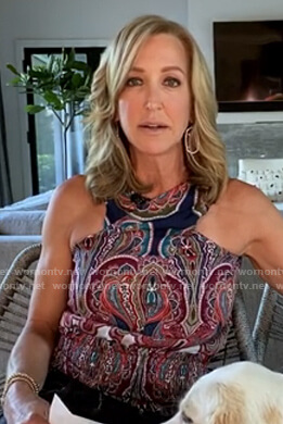 Lara's paisley cross-neck top on Good Morning America