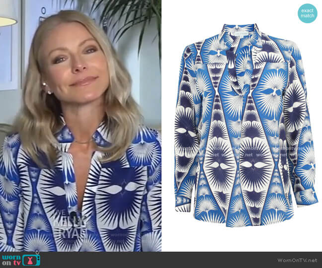 Kim Blouse by Lotty B worn by Kelly Ripa  on Live with Kelly & Ryan