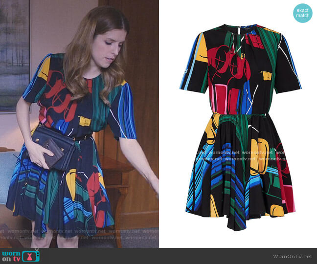 Printed Dress by Louis Vuitton worn by Darby (Anna Kendrick) on Love Life