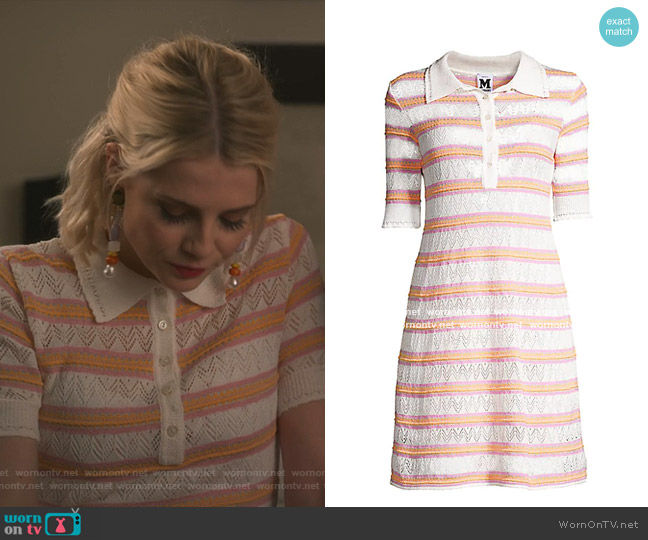 Striped Knit Dress by M Missoni worn by Astrid (Lucy Boynton) on The Politician