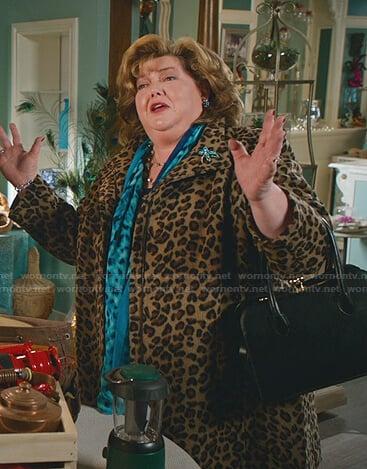 Martha's leopard print zip coat on Good Witch