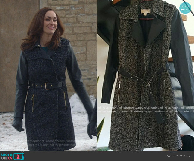 Tweed Trench Coat by Michael Kors Collection worn by Abigail Pershing (Sarah Power) on Good Witch