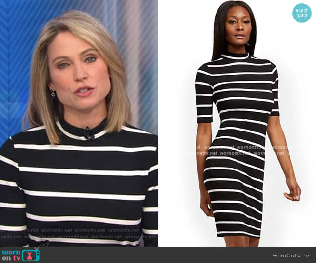 Mock Neck Shift Dress by New York & Company worn by Amy Robach  on Good Morning America