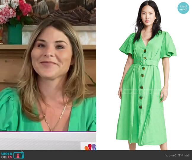 Troy Dress by Nicholas worn by Jenna Bush Hager  on Today