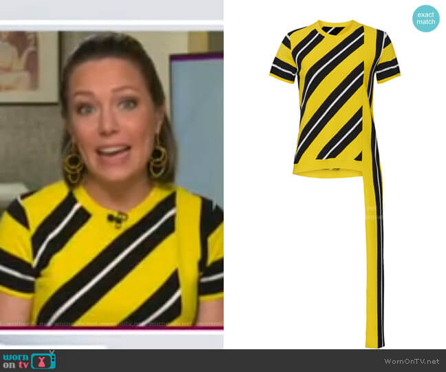 Striped Knitted Top by No.21 worn by Dylan Dreyer  on Today