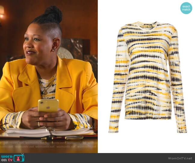 Tie Dye Long Sleeve T-Shirt by Proenza Schouler worn by Skye (Rahne Jones) on The Politician