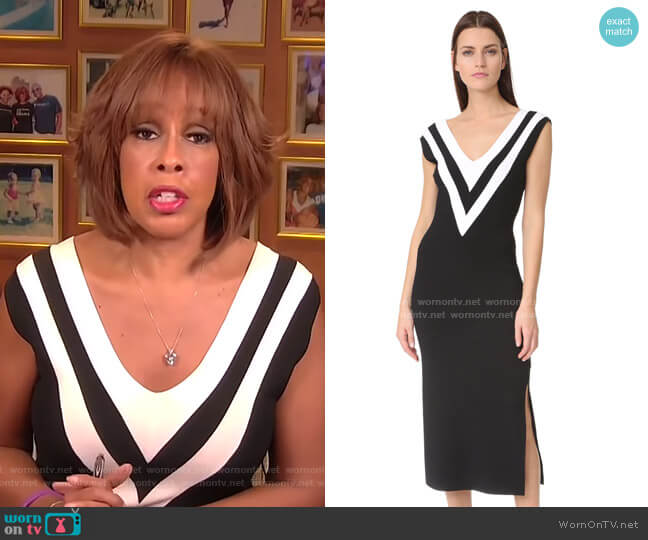 Daphne Sweater Dress by Rag & Bone worn by Gayle King  on CBS This Morning