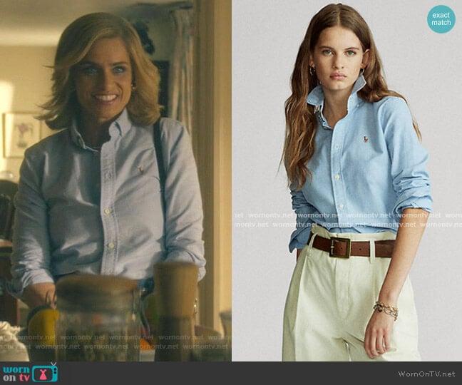 Custom Fit Cotton Oxford Shirt by Ralph Lauren worn by Betty Broderick (Amanda Peet) on Dirty John