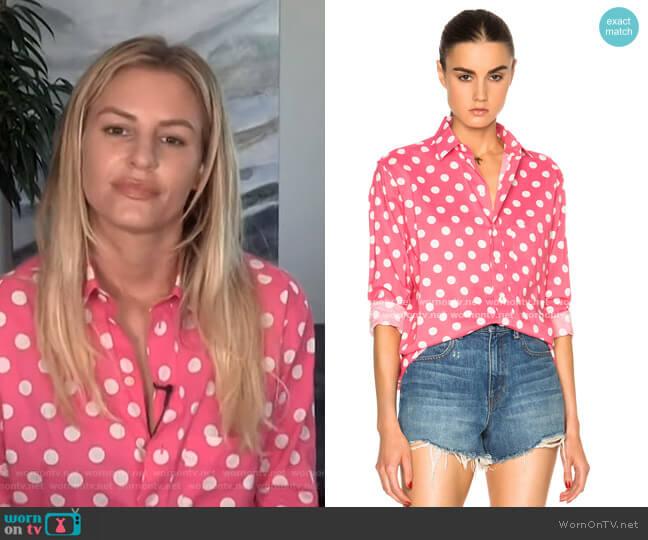 Polka Dot Shirt by Saint Laurent worn by Morgan Stewart  on E! News