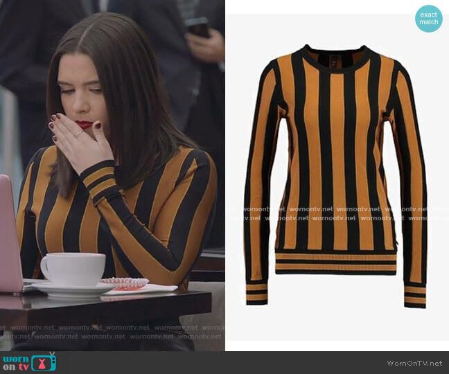 Varsity Stripe Pullover by Scotch & Soda worn by Jane Sloan (Katie Stevens) on The Bold Type