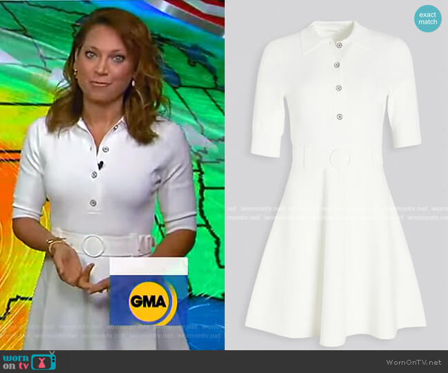 Edgemont Dress by Shoshanna worn by Ginger Zee  on Good Morning America