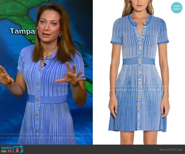 Estefania Dress by Shoshanna worn by Ginger Zee  on Good Morning America