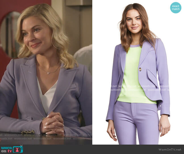 One Button Blazer by Smythe worn by Stephanie Borden (Kylee Evans) on Good Witch