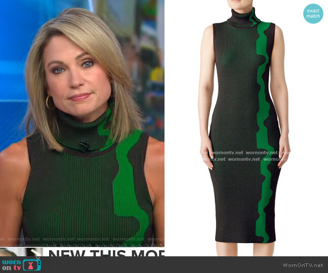 Lowri Sheath by Solace London worn by Amy Robach  on Good Morning America