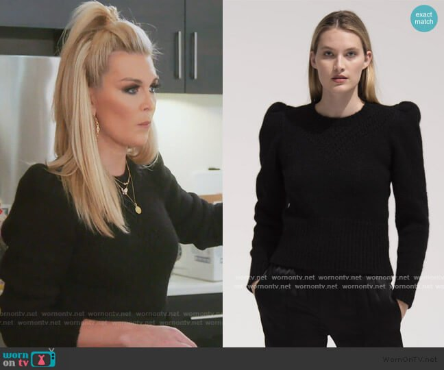 Sissy Sweater by St. Roche worn by Tinsley Mortimer  on The Real Housewives of New York City