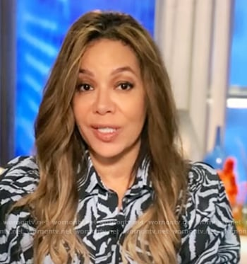 Sunny's zebra stripe shirtdress on The View