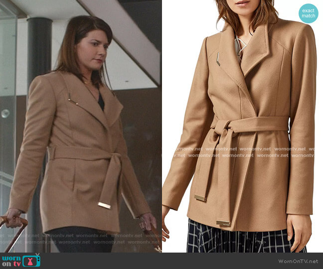 Drytaa Belted Short Coat by Ted Baker worn by Elise Bauman on Good Witch worn by Cassandra Nightingale (Catherine Bell) on Good Witch