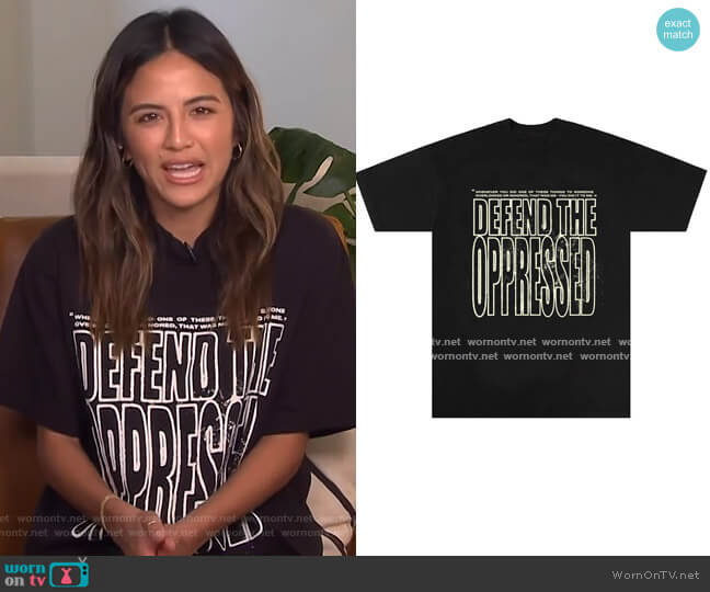 Defend The Oppressed Tee by The Last Adam worn by Erin Lim  on E! News