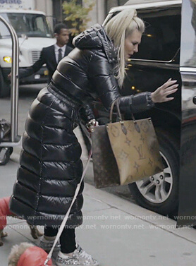 Tinsley's black puffer coat on The Real Housewives of New York City