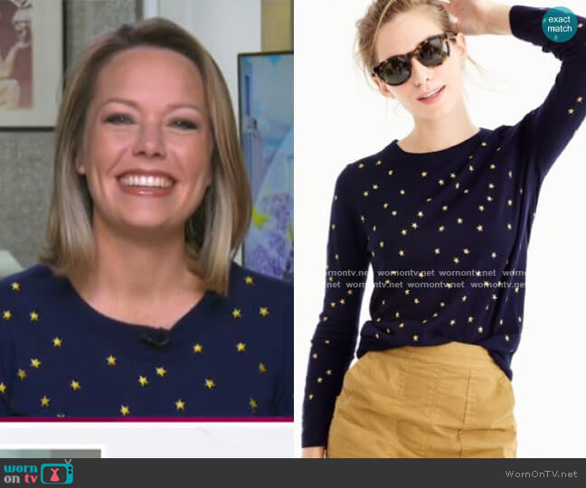 Tippi Sweater in Embroidered Stars by J.Crew worn by Dylan Dreyer  on Today
