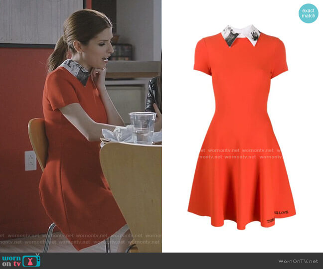 Poetry Embroidery Pleated Dress by Valentino worn by Darby (Anna Kendrick) on Love Life
