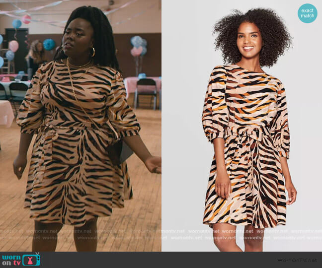 Animal Print Mini Dress by Who What Wear worn by Danyelle Monson on The Chi