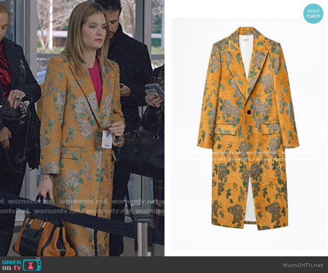 Monarque Velvet Coat by Zadig & Voltaire worn by Sutton (Meghann Fahy) on The Bold Type