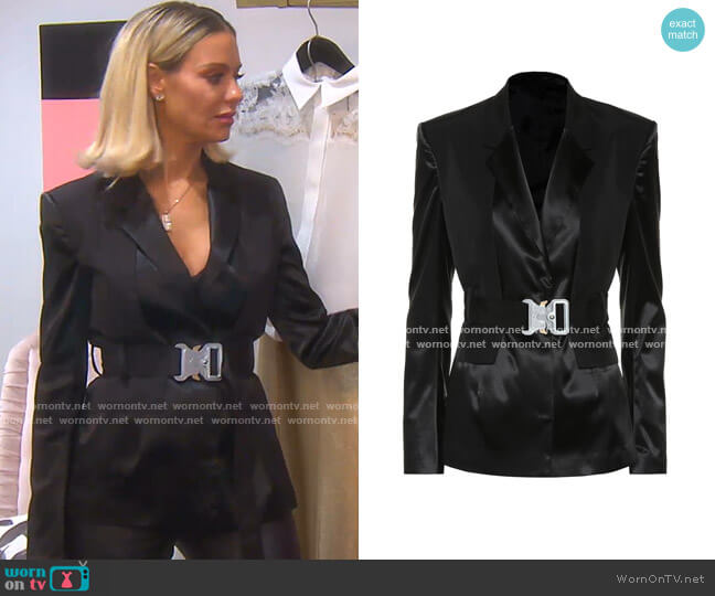 Satin blazer by 1017 ALYX 9SM worn by Dorit Kemsley  on The Real Housewives of Beverly Hills