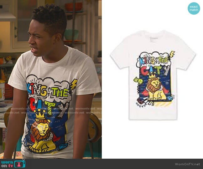 King of the City Lion Tee by 2 Strong worn by Issac Ryan Brown